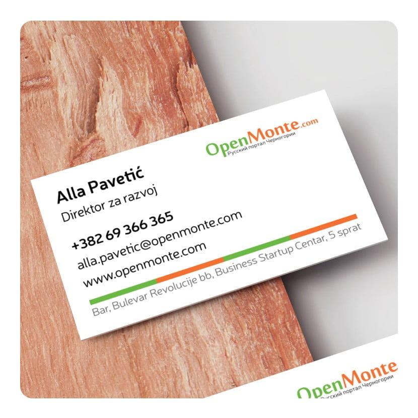 Логотип и визитки Опенмонте Сайт Артура Нецветаева — сайты, приложения, прототипы и оформление интерфейсов openmonte bcards square