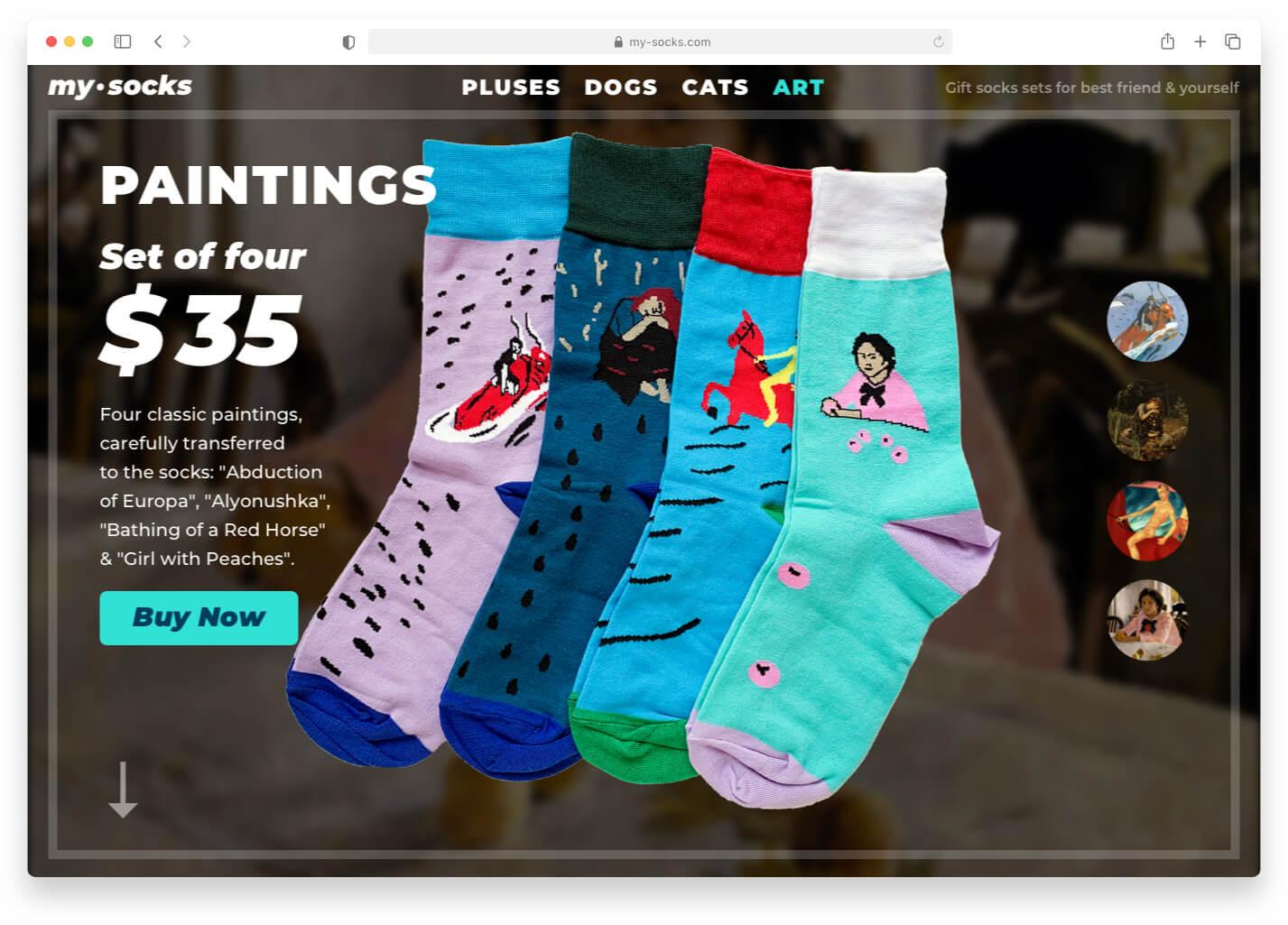 My Socks — магазин носков Сайт Артура Нецветаева — сайты, приложения, прототипы и оформление интерфейсов mysocks landing desktop 5 artur netsvetaev design