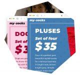 My Socks — магазин носков Сайт Артура Нецветаева — сайты, приложения, прототипы и оформление интерфейсов square preview 1