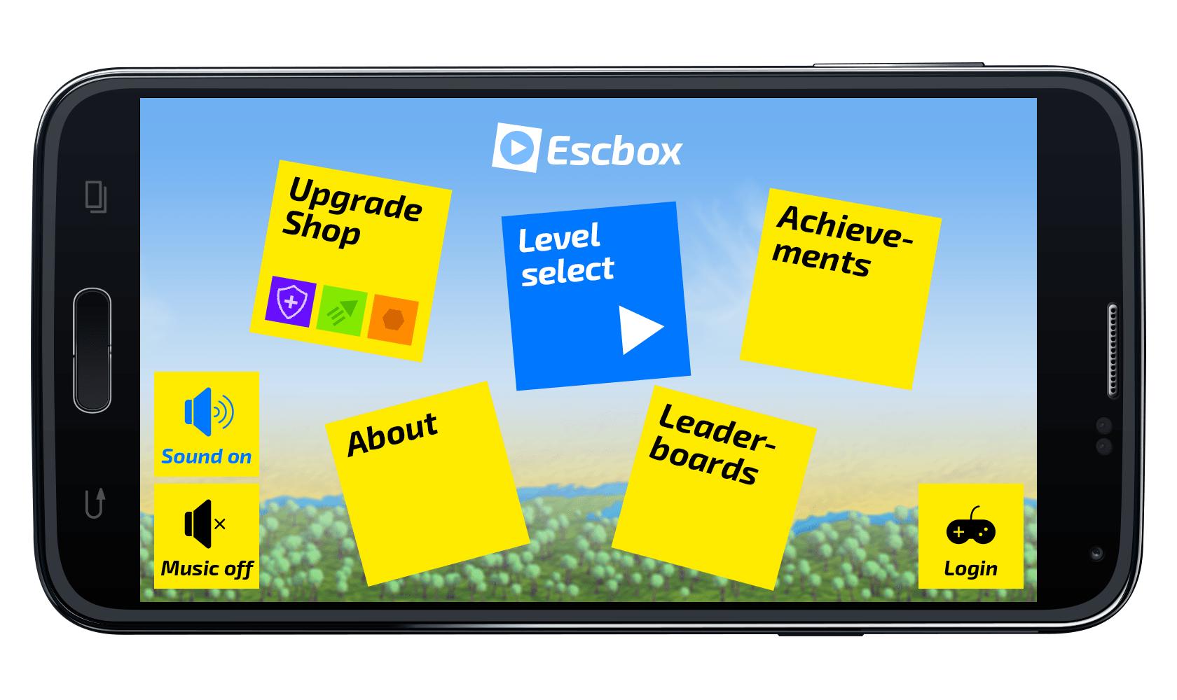 Графика и музыка игры Escbox Сайт Артура Нецветаева — сайты, приложения, прототипы и оформление интерфейсов 06