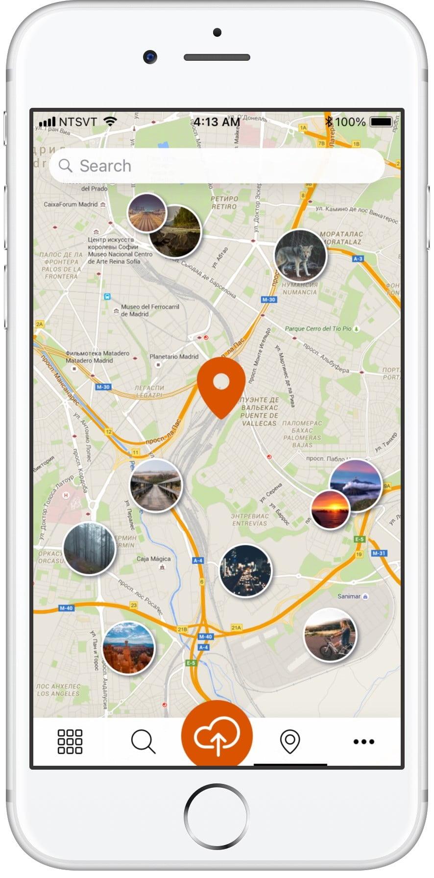 Социальное приложение Yirrkala Сайт Артура Нецветаева — сайты, приложения, прототипы и оформление интерфейсов 4search map