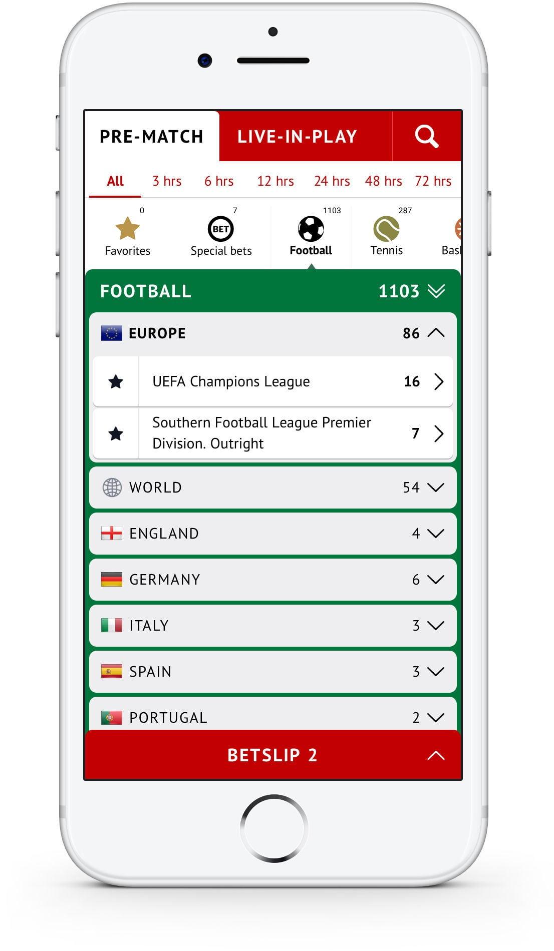 Мобильные ставки RedStarBet Сайт Артура Нецветаева — сайты, приложения, прототипы и оформление интерфейсов pre match list