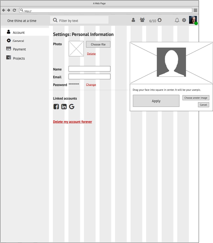 Прототипы CRM My Tasks Сайт Артура Нецветаева — сайты, приложения, прототипы и оформление интерфейсов Account