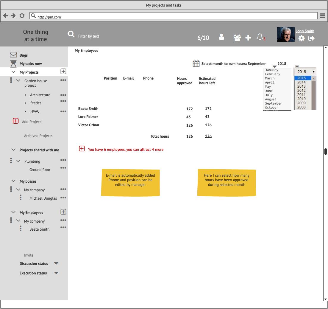 Прототипы CRM My Tasks Сайт Артура Нецветаева — сайты, приложения, прототипы и оформление интерфейсов My Employees