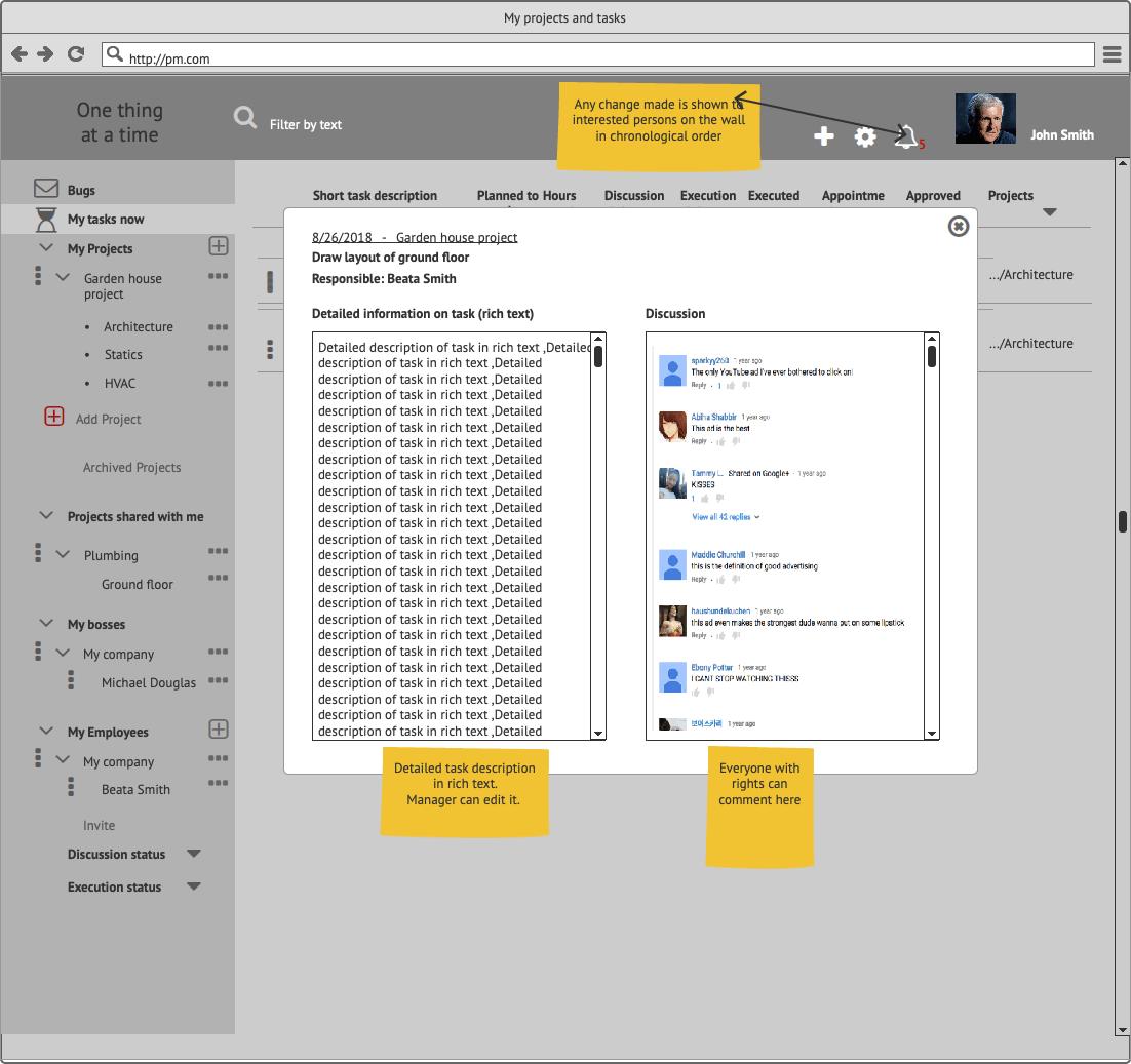Прототипы CRM My Tasks Сайт Артура Нецветаева — сайты, приложения, прототипы и оформление интерфейсов Task detailed