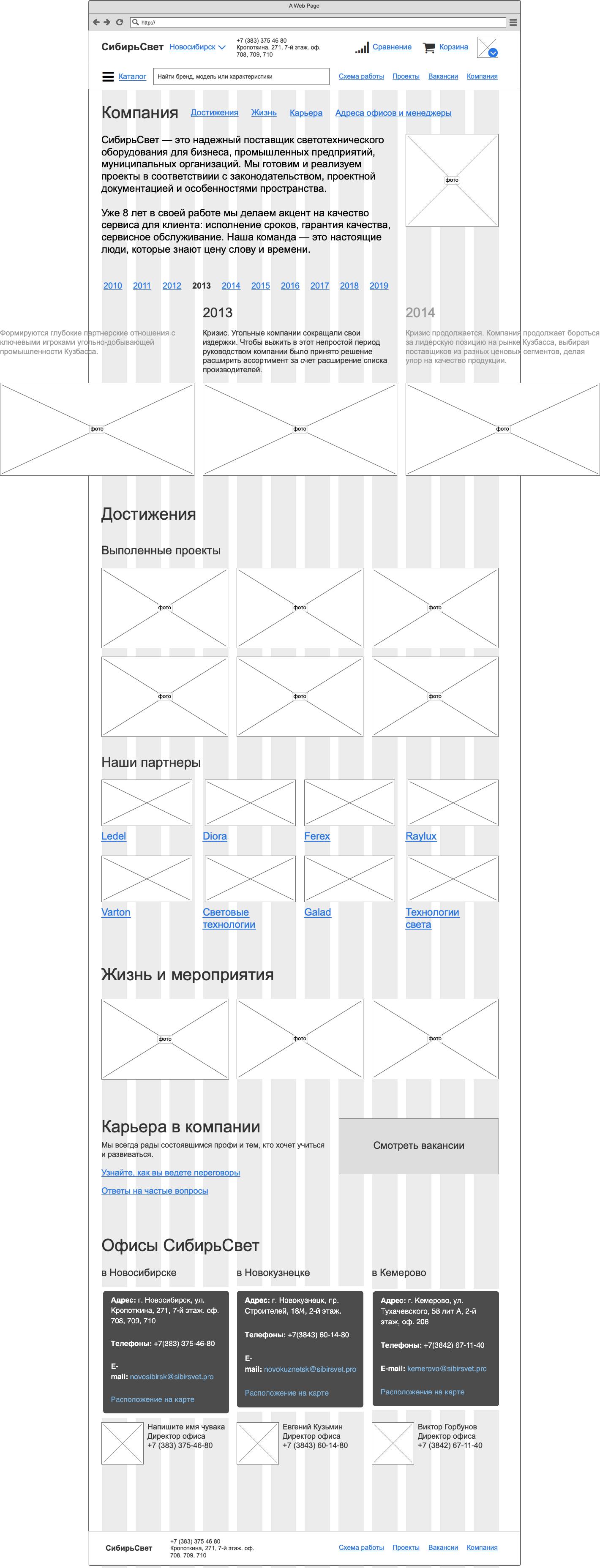 Магазин «Сибирьсвет» Сайт Артура Нецветаева — сайты, приложения, прототипы и оформление интерфейсов 6 company