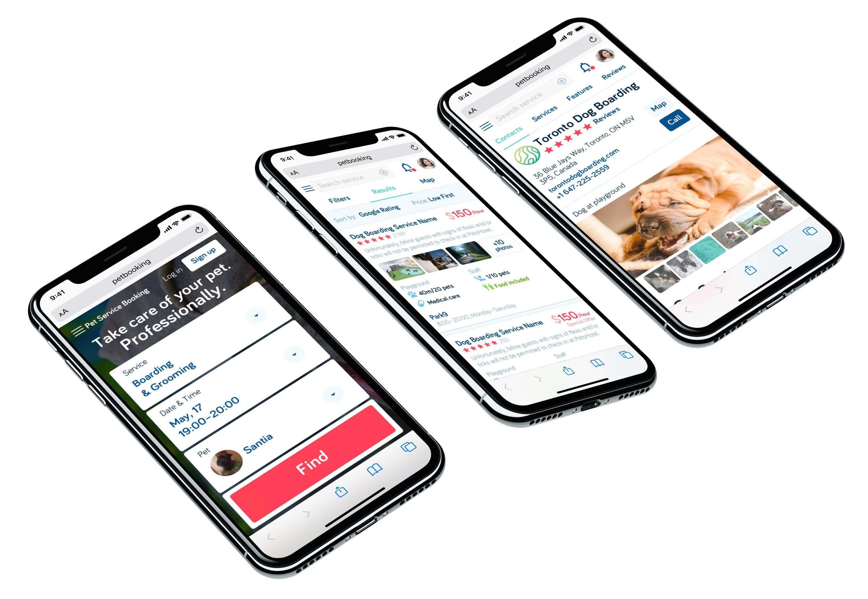 Букинг для собак Pet Booking Сайт Артура Нецветаева — сайты, приложения, прототипы и оформление интерфейсов petbooking iphones