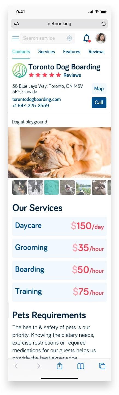 Букинг для собак Pet Booking Сайт Артура Нецветаева — сайты, приложения, прототипы и оформление интерфейсов petbooking partner page mobile artur netsvetaev design