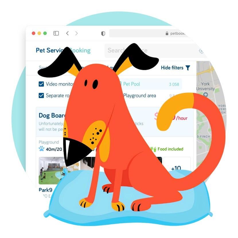 Букинг для собак Pet Booking Сайт Артура Нецветаева — сайты, приложения, прототипы и оформление интерфейсов petbooking square preview