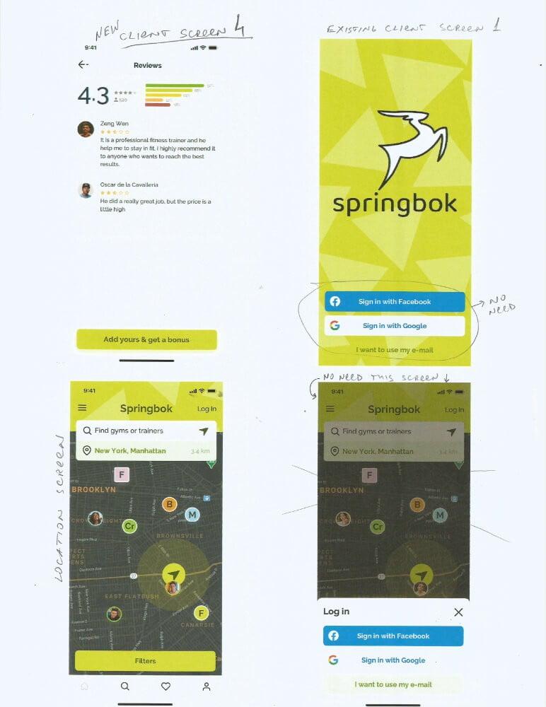 Springbok — маркетплейс фитнеса Сайт Артура Нецветаева — сайты, приложения, прототипы и оформление интерфейсов P1