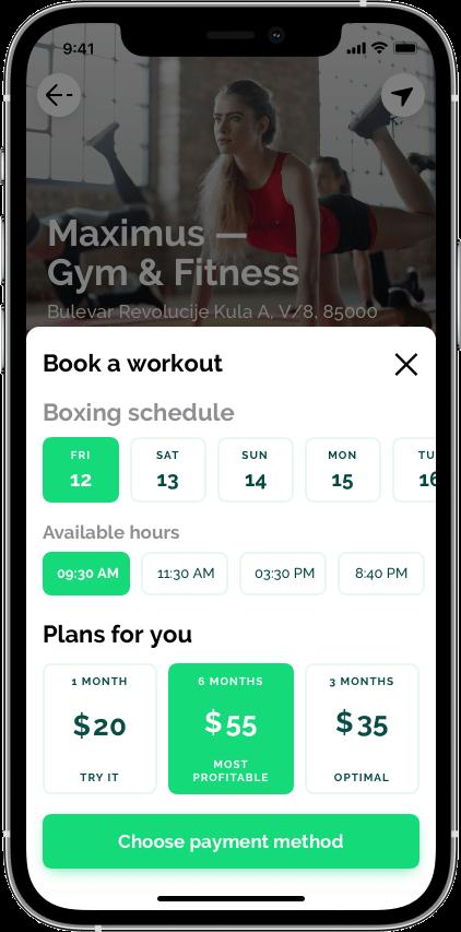 Springbok — маркетплейс фитнеса Сайт Артура Нецветаева — сайты, приложения, прототипы и оформление интерфейсов iPhone 12 Pro 10