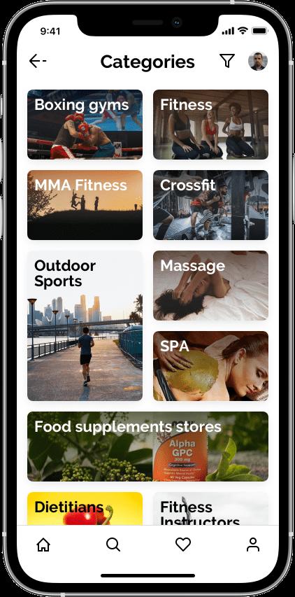 Springbok — маркетплейс фитнеса Сайт Артура Нецветаева — сайты, приложения, прототипы и оформление интерфейсов iPhone 12 Pro 3