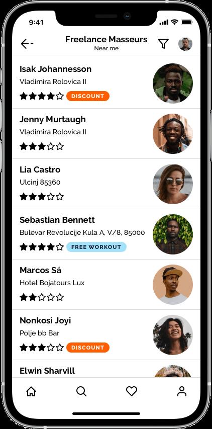Springbok — маркетплейс фитнеса Сайт Артура Нецветаева — сайты, приложения, прототипы и оформление интерфейсов iPhone 12 Pro 4