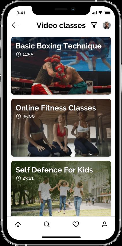 Springbok — маркетплейс фитнеса Сайт Артура Нецветаева — сайты, приложения, прототипы и оформление интерфейсов iPhone 12 Pro 5