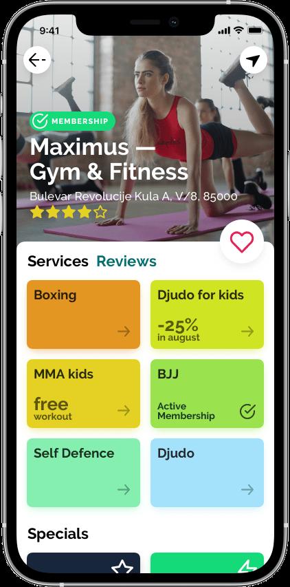 Springbok — маркетплейс фитнеса Сайт Артура Нецветаева — сайты, приложения, прототипы и оформление интерфейсов iPhone 12 Pro 9