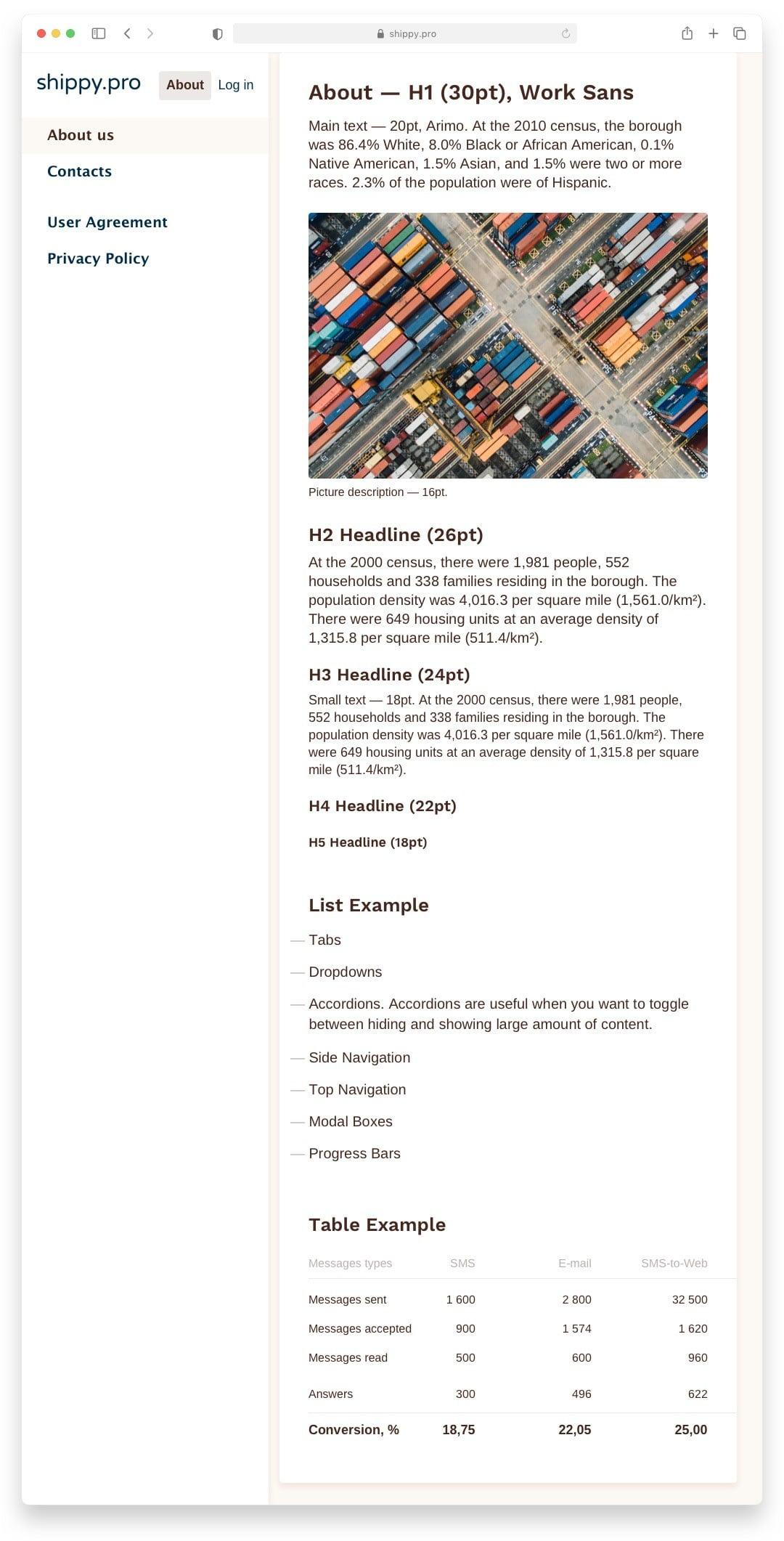 Интерфейс Shippy Pro Сайт Артура Нецветаева — сайты, приложения, прототипы и оформление интерфейсов shippy pro text website artur netsvetaev design