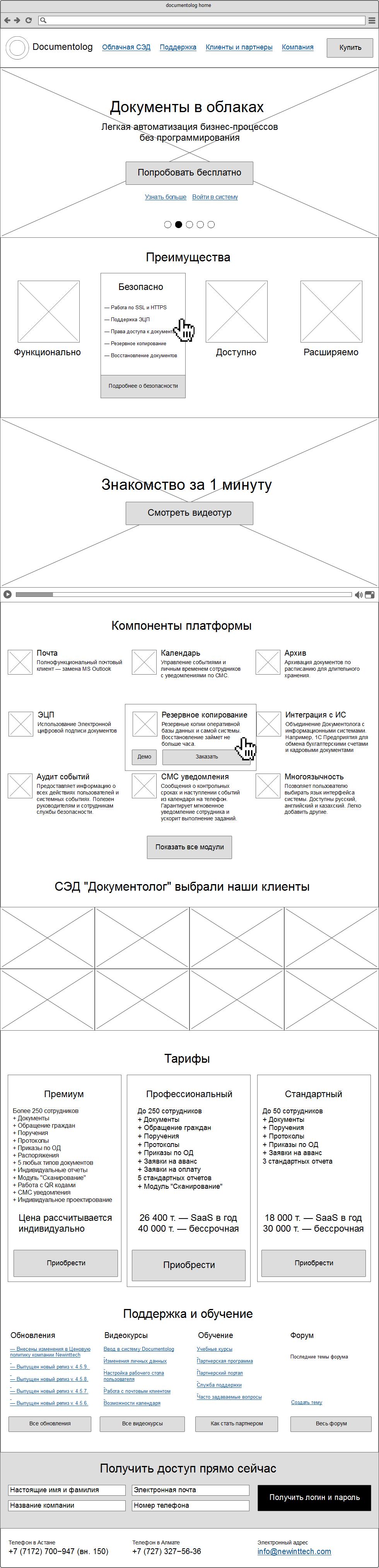 Прототипы сайта «Документолога» Сайт Артура Нецветаева — сайты, приложения, прототипы и оформление интерфейсов main 2