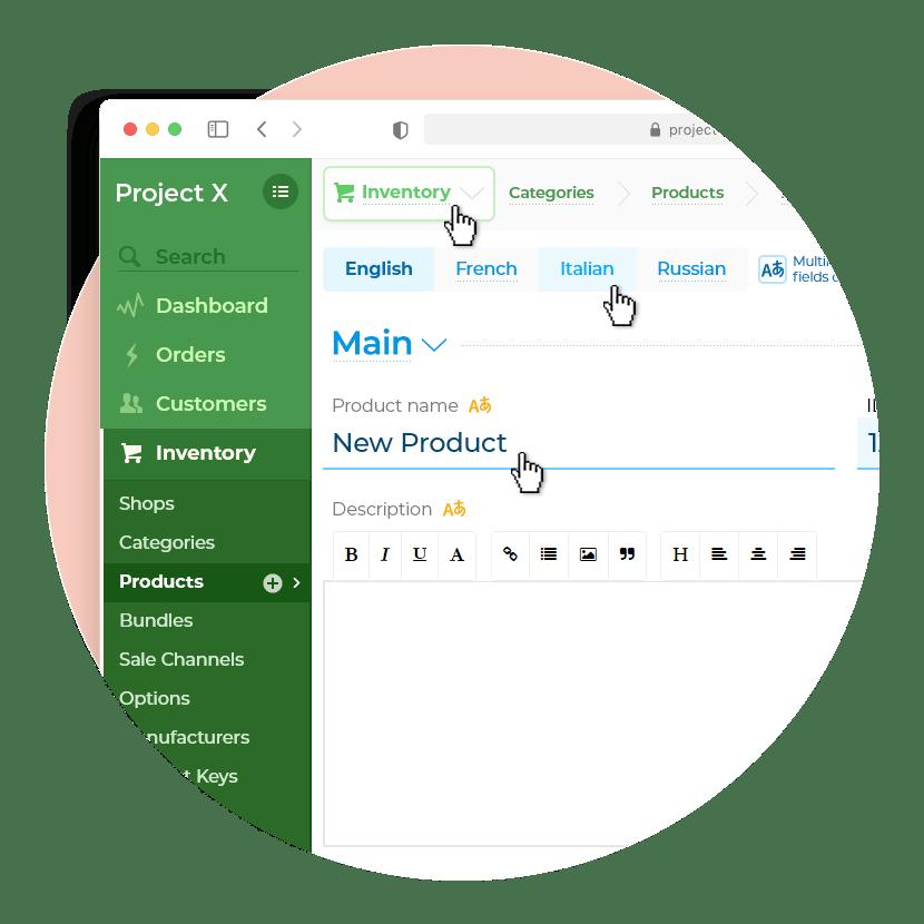 Интерфейс CRM аналога Shopify Сайт Артура Нецветаева — сайты, приложения, прототипы и оформление интерфейсов shopify killer square preview